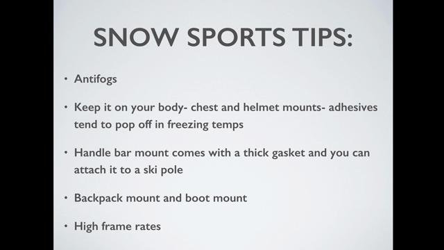 Snow Sports Shooting Tips